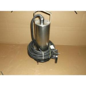 Wilo 6047418 2012w04 mts40 165 5 4hp Submersible Sewage Grinder Pump 230 60 3