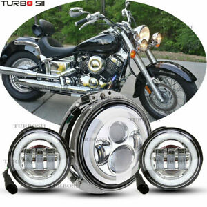 7 Led Headlight Fog Passing Light For Harley Electra Glide Ultra Classic Tour