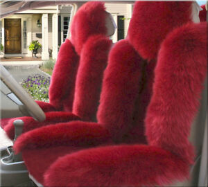 Genuine Australian Pair Sheepskin Fur Car 2 Front Seat Covers Set Universal M12r