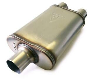 Two Chamber Performance Street Muffler 3 Inlet 2 5 Dual Outlet