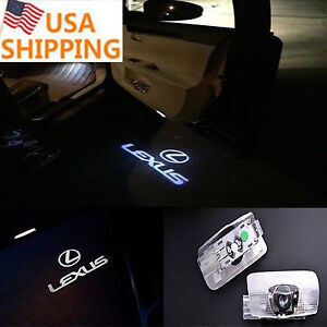 2x Laser Led Car Door Ghost Shadow Welcome Projector Lights Lexus Lx Rx Gs Gx Ls