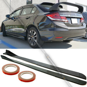Fit 12 15 Civic 4dr Sedan Unpainted Polyurethane Pu Cs Style Side Skirt Body Kit