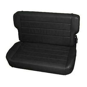 Smittybilt Fold Tumble Rear Seat For Jeep Cj Wrangler Yj 55 95 Black 41315