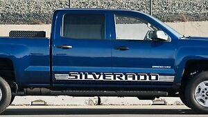 2pk Chevy Silverado Door Decals Vinyl Stickers 1500 Shadow Stripes Striping