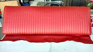 1965 Mustang Fastback Rear Seat Back Top Upper With Frame Red As pictured