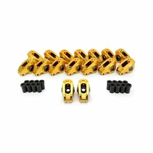 Comp Cams Ultra Gold Aluminum Roller Rocker Arms Sbc Chevy V8 1 6 Ratio 3 8 Stud
