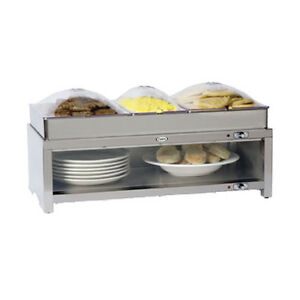 Cadco Cmlb cslp 28 Buffet Warming Cabinet With Triple Buffet Server Top
