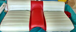 1965 Mustang Rear With Frame Back Seat Bottom Lower Pony Red White As Pictured