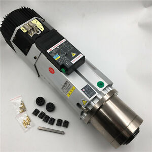 9kw Air cooled Atc Spindle Motor Bt30 220v 380v 24000rpm Long Nose Replace Hsd