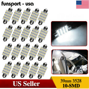 20x Canbus T10 10 Smd W5w Led White Super Bright Car Lights Bulb 194 168 2825