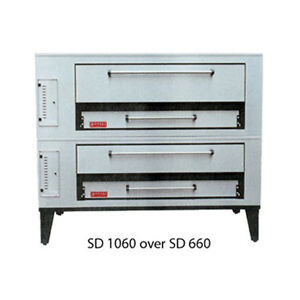 Marsal Sd 1048 Stacked Gas Deck Type Pizza Oven