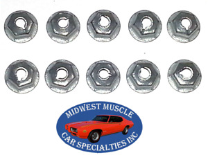 Ford 8 32 Body Fender Door Quarter Trunk Trim Clip Moulding Molding Nuts 10pc D