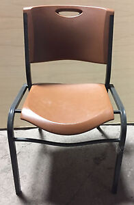100 Stacking Restaurant Cafe Chairs Tan Lifetime Office Church Meeting Chairs