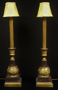 Pair Of Escargot Table Lamps