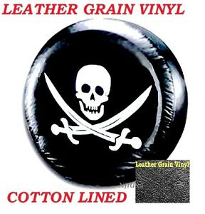 Lined Vinyl Spare Wheel Tire Soft Cover Protector 27 For Honda Crv Pirate Skull