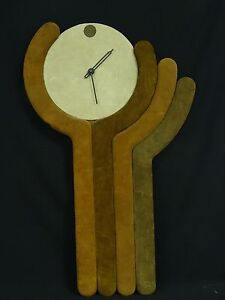 Rare Vintage 1976 Austin Production Modernist Wall Clock 34 Works