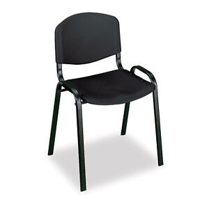Stack Chairs Black 4 Pk