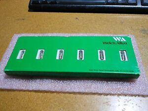 Welch Allyn Incandecent Lamp Original Box Of 7 Pc Part 03300