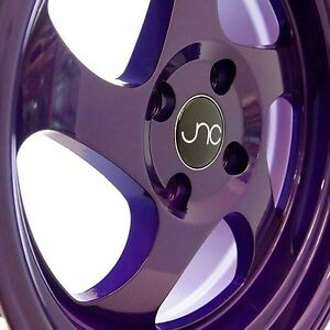 Jnc034 16x8 4x100 Et25 Full Candy Purple Wheels Rims Fit Honda Civic Si