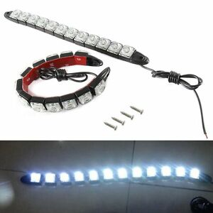2x Universial 12led Drl Flexible Daytime Running Light Driving Daylight Fog Lamp