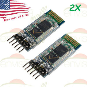 2pcs Hc 05 Wireless Bluetooth Rf Serial Transceiver Module 6pin Rs232 Ttl Us