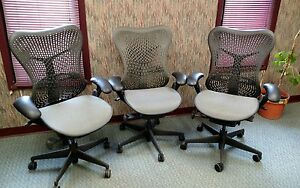 3 Herman Miller Fully Loaded Mirra Chairs