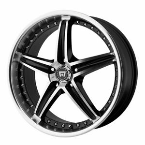 Motegi Mr107 Rim 17x7 5 5x114 30 Offset 45 Gloss Black Machined quantity Of 4
