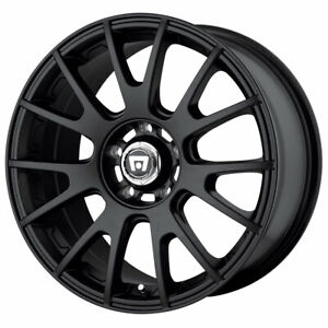 Motegi Mr118 Rim 17x8 5x100 00 Offset 45 Matte Black quantity Of 4