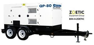 Southwest Products 83kva 66kw Quiet Power Qp 80 Portable Diesel Generator