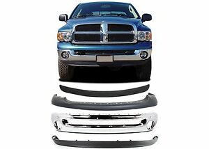 Replacement Front Bumper Combo For 2002 2005 Dodge Ram 1500 2500 3500 New Usa