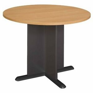 Bush Furniture 42 Inch Round Conference Table Light Oak New