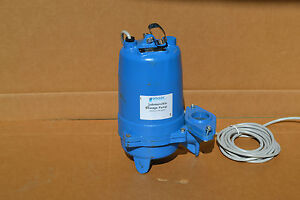Goulds 1 2 Hp Manual Submersible Sewage Pump 115 Voltage 90 Gpm 15 Of Head