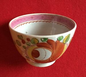 Antique King S Rose Creamware Pearlware Tea Cup Bowl 19th Century 1810 1820
