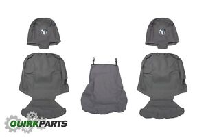 09 10 Dodge Ram 1500 40 20 40 Bench Seat Charcoal Gray Front Seat Covers Mopar