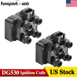 Ignition Coils 2 Pack Set For Ford Lincoln Mercury 4 6l 5 0l V8 Fd487t 1988 2003