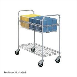 Filing Cabinet File Storage 36 w Wire Cart Transitional Accessories