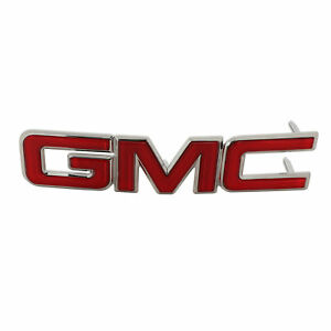 Oem New Front Grille Gmc Emblem Nameplate Chrome And Red 10 15 Terrain 22764298