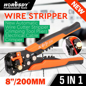 8 Self adjusting Wire Stripper Cable Cutter Electricians Crimping Tool New