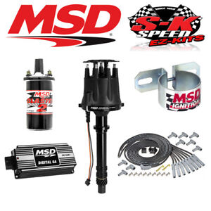 Msd Black Ignition Kit Digital 6a Distributor Wires Coil Bracket Big Block Chevy