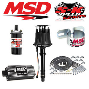 Msd Black 90013 Ignition Kit Digital 6al Distributor Wires Coil Big Block Chevy