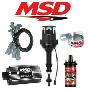 Msd Black Ignition Kit Digital 6al distributor wires coil Ford 351w Small Cap