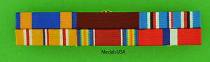 WWII Navy Philippines Asia Pacific Service Mounted 6 Ribbon Bar WW2 Air Medal $19.49