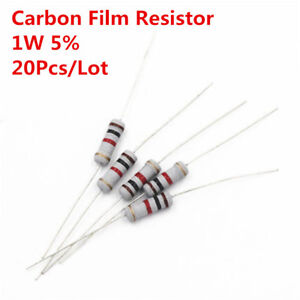 20pcs 1w 1 Watt Carbon Film Resistor 5 1 910 Ohm 1 R To 910 R