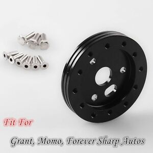 0 5 Hub For 5 6 Hole Steering Wheel To Fit Grant Apc 3 Hole Adapter Black 1 2