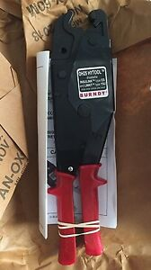 Brand New Burndy Oh25 Hytool Electrical Dieless One Hand Ratchet Crimper