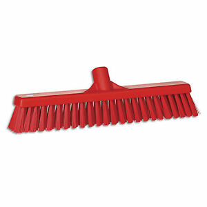Ust Push Broom Soft hardbristle 2 x16 Red 1 Ea