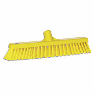 Ust Push Broom Soft hard Bristle 2 x16 Yellow 1 Ea