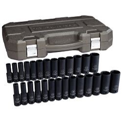Gearwrench 84949n 27 Piece 1 2 Drive 6 Point Sae metric Deep Impact Socket Set