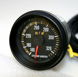 Stewart Warner Mechanical Oil Temperature Gauge Model P 82860 144 Nos