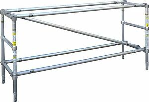Werner Model 4111 Narrow Span 3 1 2 Ft H X 8 Ft L Scaffold Guard Rail